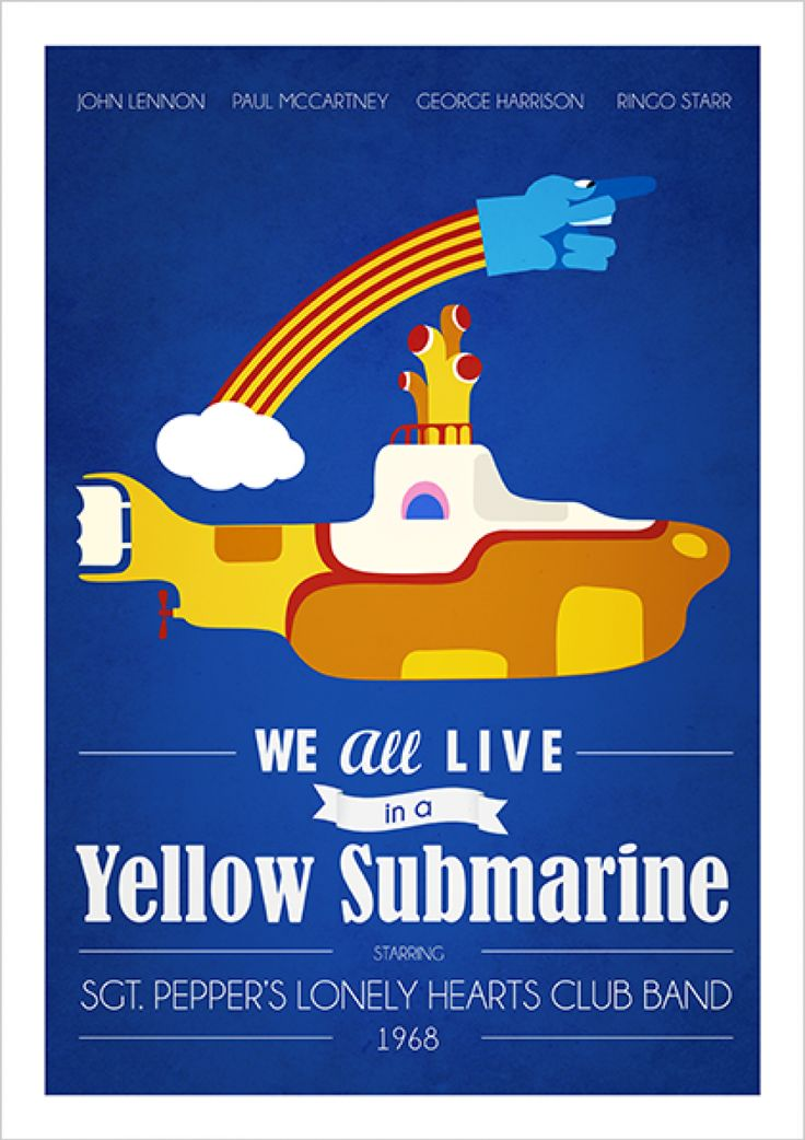 Yellow Submarine - The Beatles - Música | Posters Minimalistas