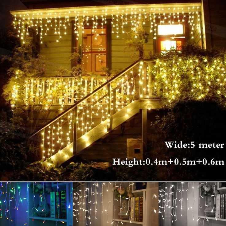 christmas outdoor decoration droop curtain icicle string led lights eu new year garden xmas wedding partychina mainland