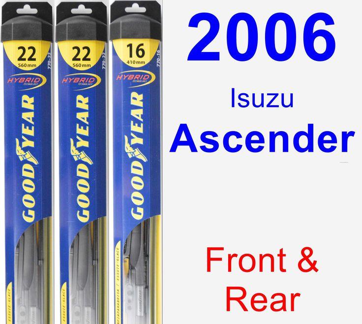 Front & Rear Wiper Blade Pack for 2006 Isuzu Ascender - Hybrid