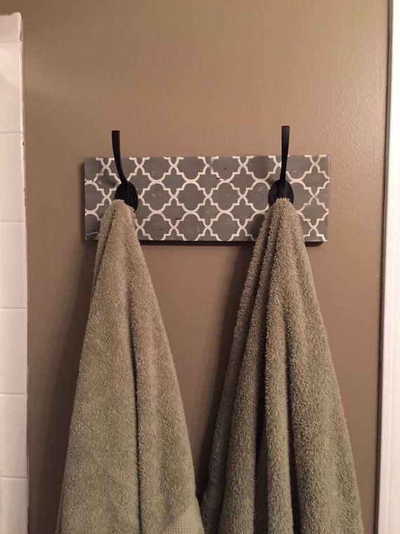 Moroccan Print Towel Holder :)