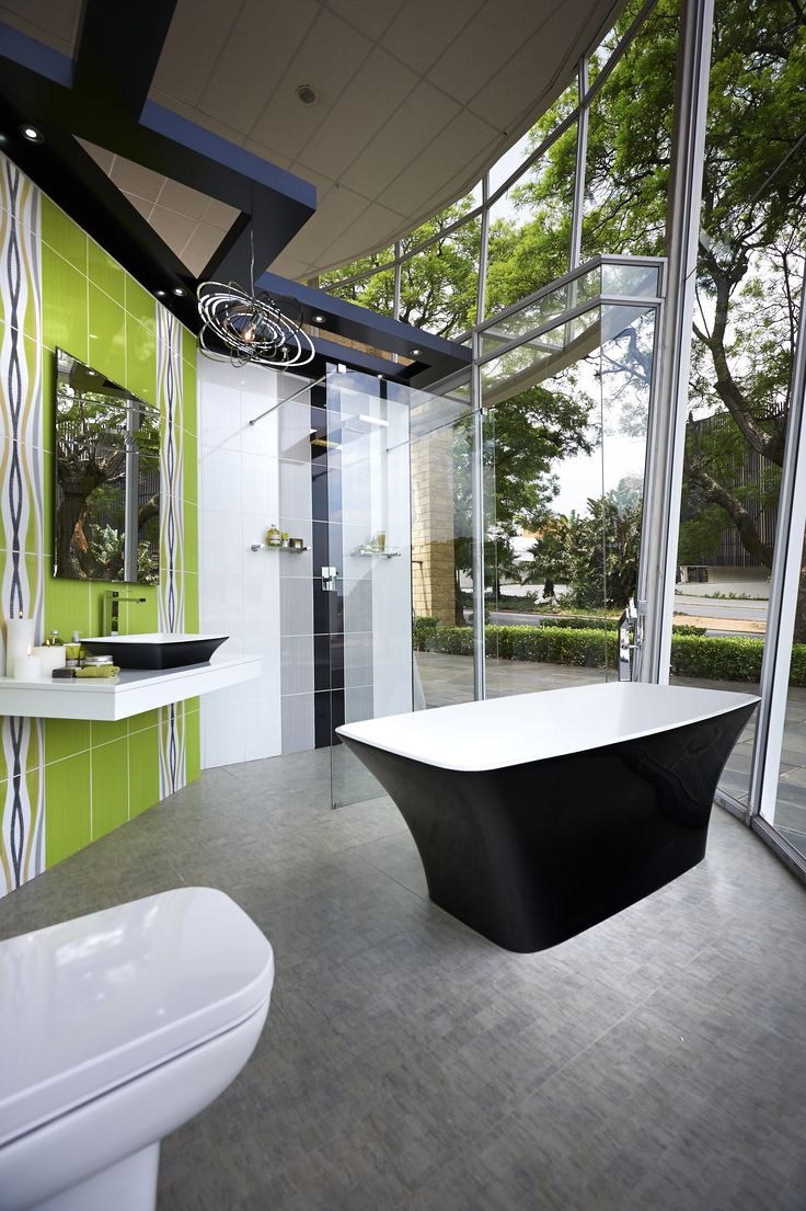 That better be one way glass! #bathroom #inspiration #style #modern #classic #freestanding #baths