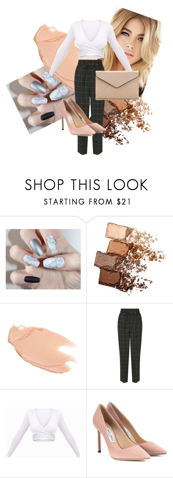 """""""basic pub lunch outfit"""" by dress-like-your-going-out-out ❤ liked on Polyvore featuring Maybelline, Too Faced Cosmetics, Miss Selfridge, Jimmy Choo and La Diva"""