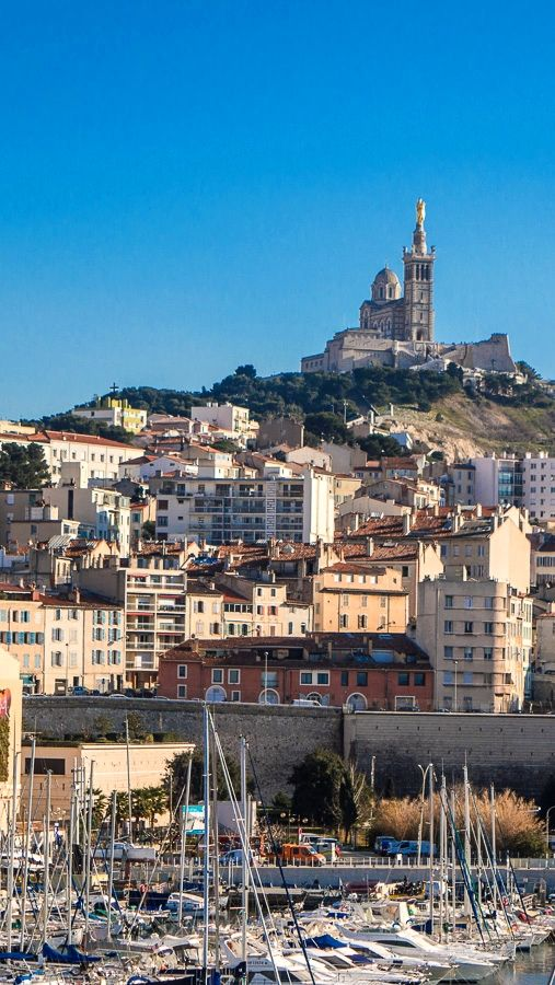 Beautiful view over Marseille (France) from the Fort Saint Jean