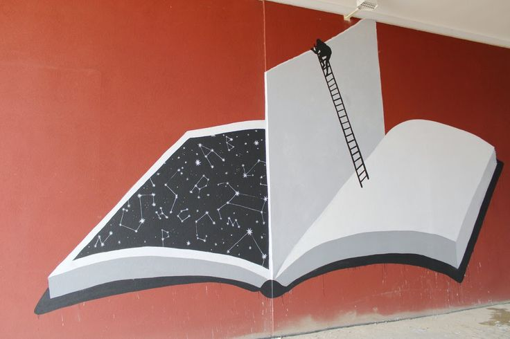 Bookish Street Art Mural by Sam3  in the city of Porto in Portugal organised by Prova de Artista
