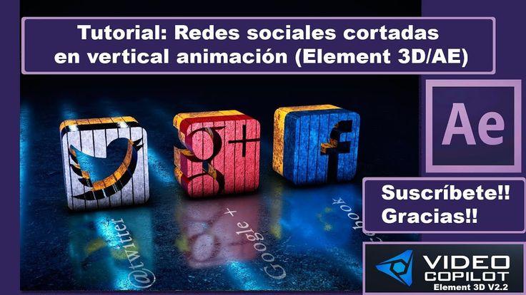 Tutorial: Redes sociales cortadas en vertical animación (Element 3D/AE)