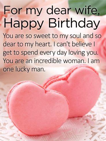 For my Dear Wife - Happy Birthday Card