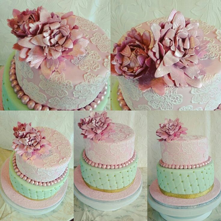 Pastel lace cake