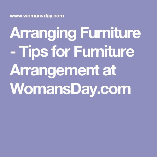 10 of furniture arranging