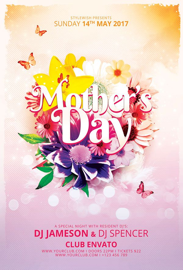 14 best Flyer Templates images on Pinterest Flyer template - mothers day flyer