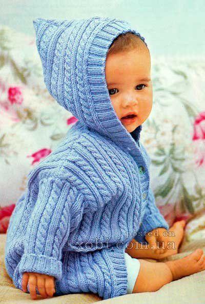 детское голубое пальто с косами (62-92)