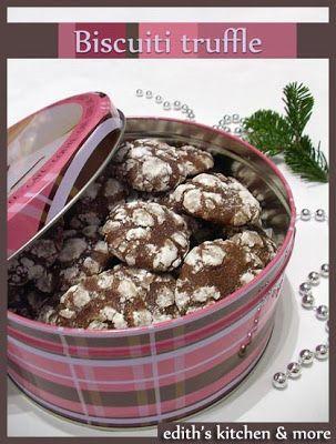 BISCUITI TRUFFLE- Daca va place ciocolata si tot ce o contine, cu siguranta va vor placea si acesti biscuitei pliiini cu ciocolata. Sunt aromati, fragezi si pe deasupra au s