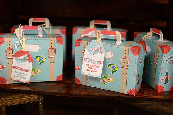 DIY Printable Suitcase Favor Box by BluGrass Designs - Airplane