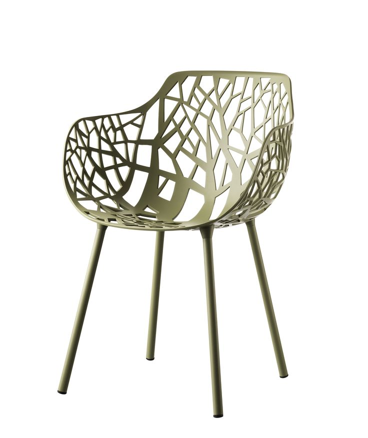FOREST collection. Armchair Sage Green / Poltrona Verde Salvia. FAST IN_OUT_ALUMINIUM