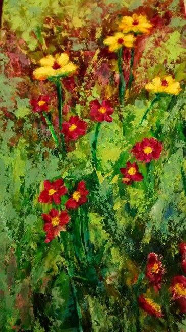 Florecillas, acrílico