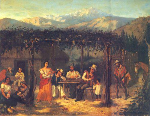 ESCENA COSTUMBRISTA, oleo sobre tela Colección Particular