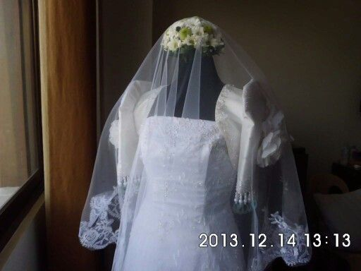 Filipiniana wedding gown spanish inspired veil white lace beads pearls sequins