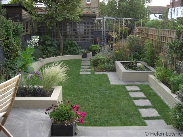 Helen lowrie box garden pinterest gardens garden for Easy landscape design ideas