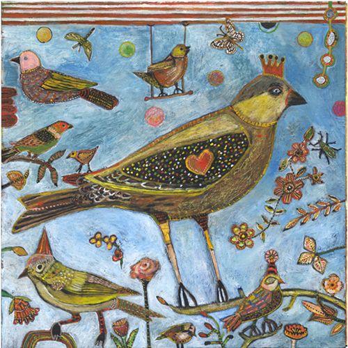 Jill Mayberg www.jillmayberg.com Bird Heart Wing. Saw her and her work at Bellevue Arts fair.