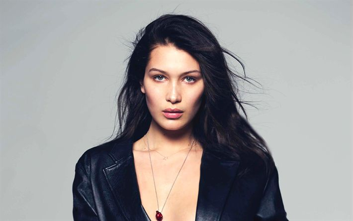 Download wallpapers Bella Hadid, photoshoot, brunette, american supermodels, beauty, Hollywood