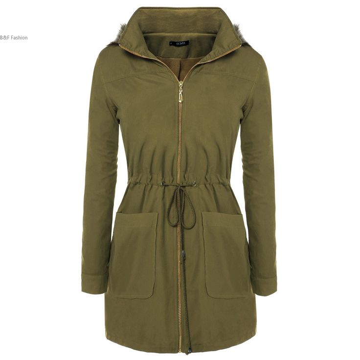 >> Click to Buy <<  Women Faux Fur Lined Coat Winter Stand Collar Fur Hooded Full Zip Waist Drawstrings Parka Long Coat Plus Size M-XXXL #Affiliate