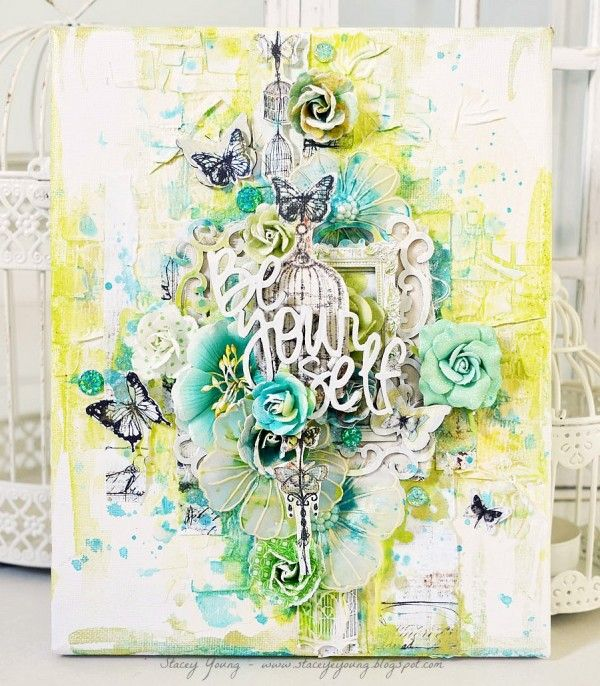 Gorgeous creation Mixed Media Artist: Stacey Young for the Simon Says Stamp Blog.