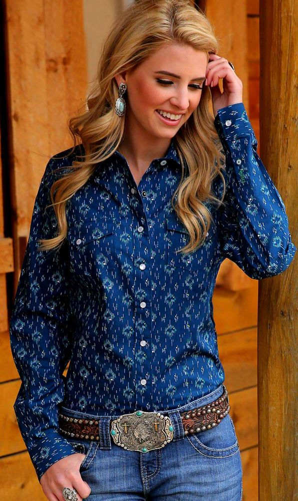 $24! CRUEL GIRL CTW7052001 RODEO Western Barrel ARENA FIT SHIRT COWGIRL NWT Medium #CruelGirl #Western