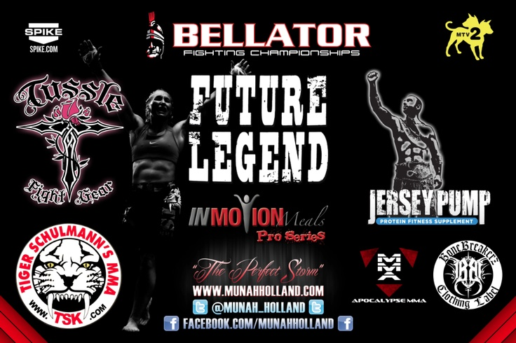Munah Holland - Bellator 74 Fight Banner #MMA