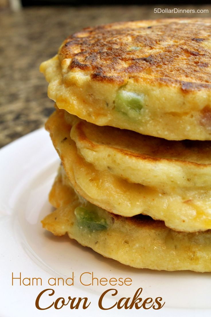 Ham and Cheese Corn Cakes ~ NEW 31 Days of 31 Minute Dinners | 5DollarDinners.com