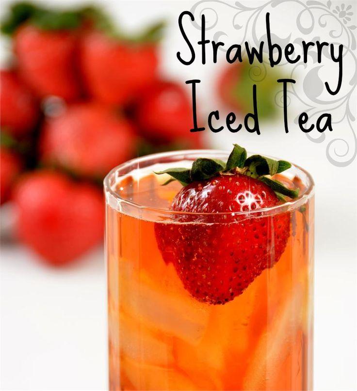 True strawberry essence in organic black iced tea