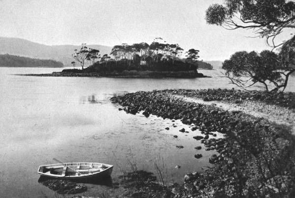 'Dead Island from Point Puer', 1899 (ALMFA, SLT). The island became the burial place for Port Arthur convicts.