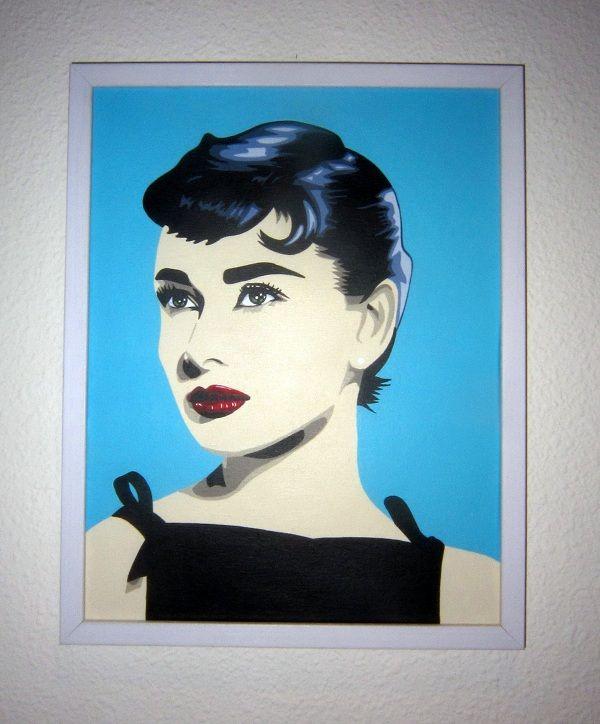 62 best audrey pop art images on pinterest audrey - Cuadros audrey hepburn ...
