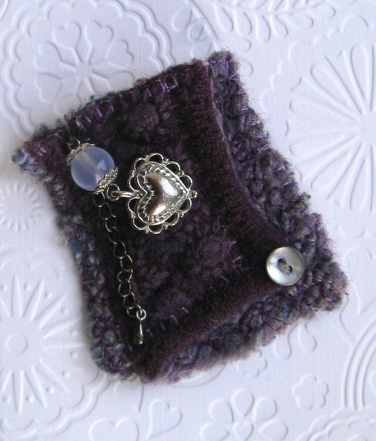 Felted wool brooch