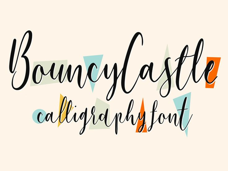 Say hello to Bouncy Castle! A playful, handwritten, and modern calligraphy font family with 4 sets of alternative letter styles to effortlessly switch between for maximum creativity and authenticit...