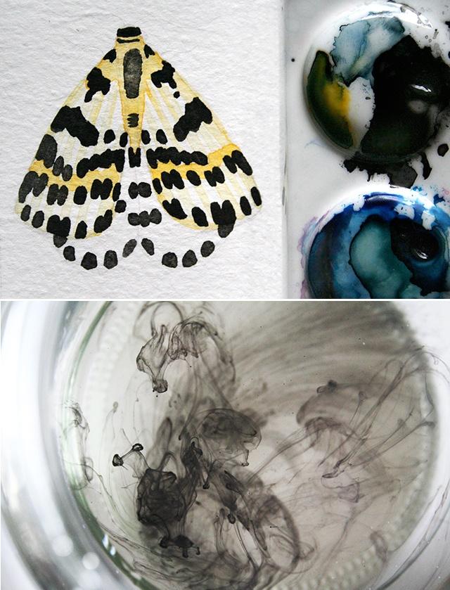 from ink caravanConcept Image, Painting Animal, Art Inspiration, Art Design Book, Ink Caravan, Artsy Diy, Drawing Painting Cr, Art Mak, Thoughts Provoking Art