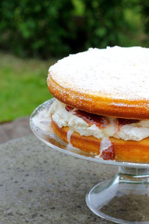 RHUBARB YOGHURT CAKE — JOHN WHAITE