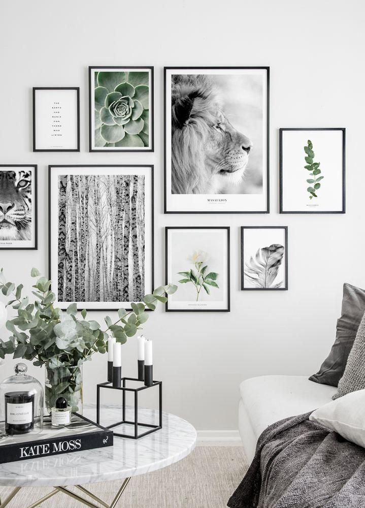 Eucalyptus Poster Gallery Wall Living Room Gallery Wall Design Gallery Wall Inspiration