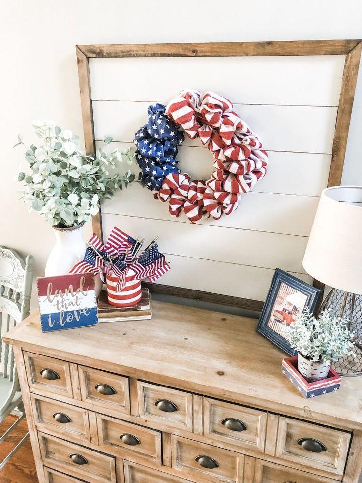 Simple Patriotic Decor Ideas For Summer Patriotic Decorations Americana Decor Decor