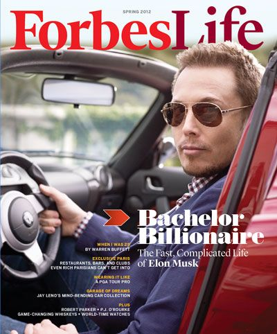 At Home With Elon Musk: The (Soon-to-Be) Bachelor Billionaire!  This month's cover of Forbes Life; Board member of the X PRIZE Foundation, www.xprize.org.