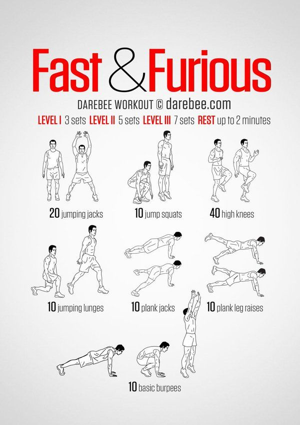"""DAREBEE on Twitter: """"Workout of the Day: Fast & Furious Workout ..."""