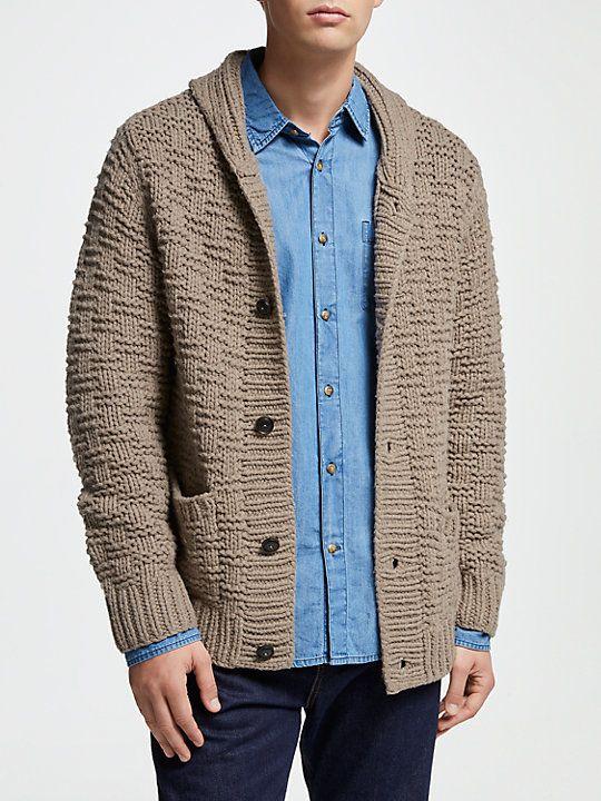 e224cb226e6f JOHN LEWIS & Co. Hand Knit Shawl Wool Cardigan, Oatmeal | Christmas ...
