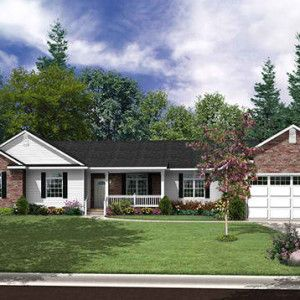 Ranch Ranch style homes are usually story houses with a low roofline,  simple open floorplans, small porches, and attached garages.