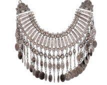 Boho Necklace Bohemian Jewelry Gypsy Statement Necklace Gypsy Coin Necklace - Turkish Necklace - Coachella Festival Jewelry - Long Necklace