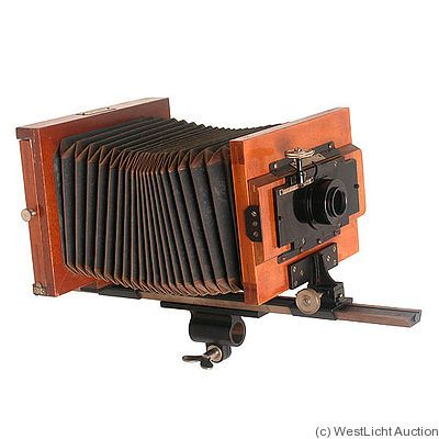 Leitz: Monorail 1905. Monorail camera for micro photography. 13x18cm.