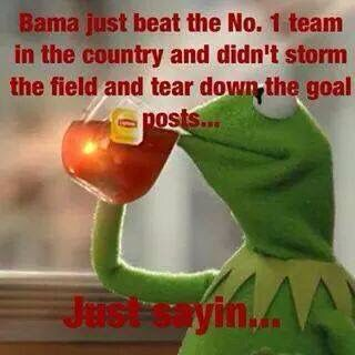 Lol #Bama ~ Check this out too ~ RollTideWarEagle.com for sports stories, scores and college football tutorial that informs and entertains. #CFB #Collegefootball