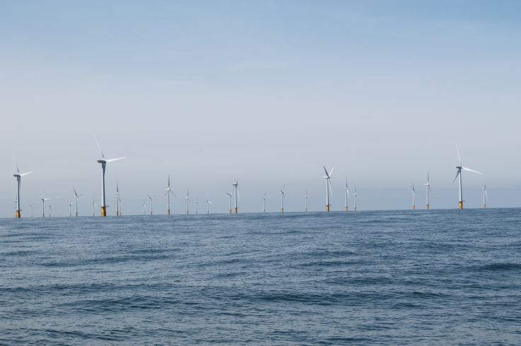 Wind farms in the North Sea