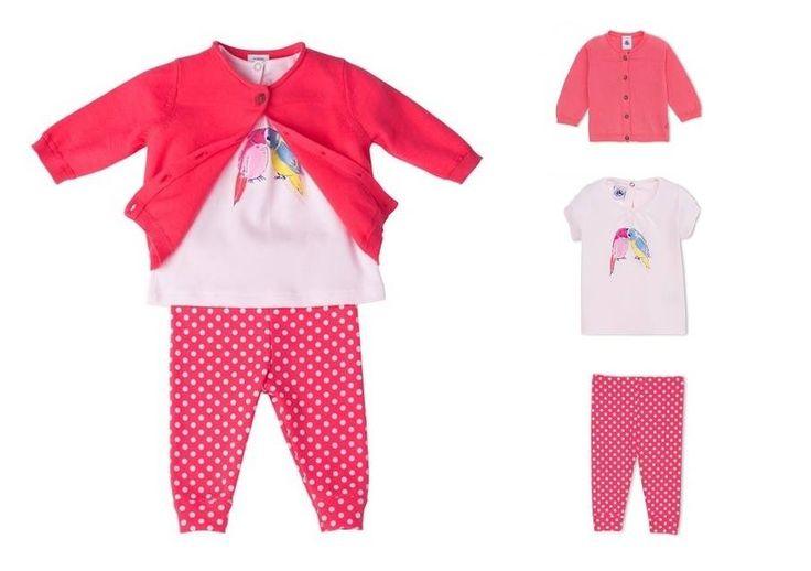 Primavera al sapore di fragola.. Completino 6-24 mesi Petit Bateau on line www.cocochic.it  http://www.cocochic.it/it/baby/500-cardigan-in-maglia-fragola.html http://www.cocochic.it/it/baby/455-t-shirt-a-righe-con-stampa-pappagalli.html http://www.cocochic.it/it/baby/453-lrleggings-fragola-a-pois.html