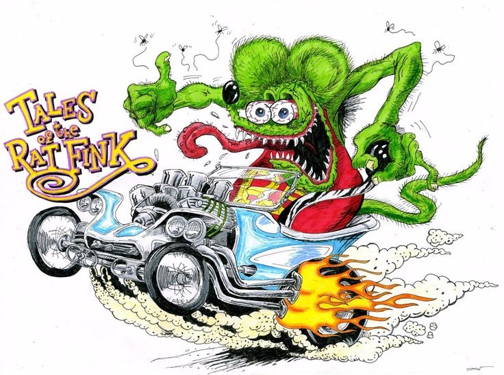 Cartoons From The 70S | 0802.2 - 14-01 - Rat Fink by ~TwistedMethodDan on deviantART
