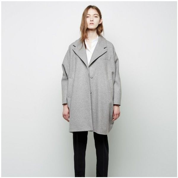 MAISON MARTIN MARGIELA MM6 Cocoon Coat THE SHAPE OF THE SEASON found on Polyvore featuring polyvore, women's fashion, clothing, outerwear, coats, wool cocoon coat, oversized wool coat, wool coat, oversized cocoon coat and cocoon coats