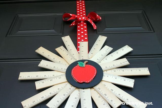 Create.Craft.Love.: Back to School {Ruler} Wreath