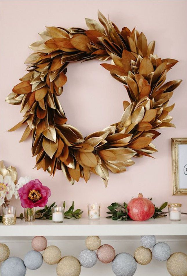 14 Festive + Modern Fall Wreaths You Can DIY via Brit + Co